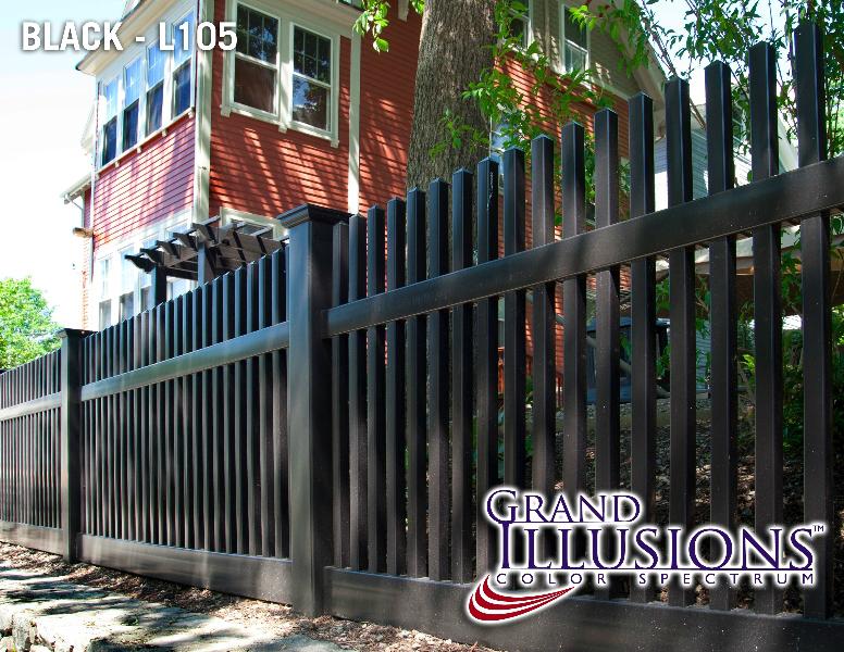Black Vinyl Fences