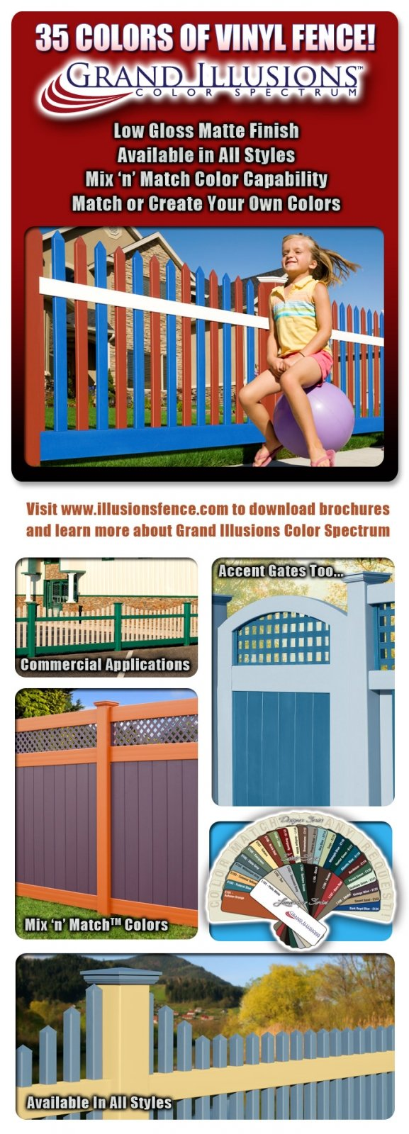 Grand Illusions Color Vinyl Fence