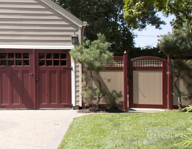 burgundy fence Archives Illusions Vinyl Fence