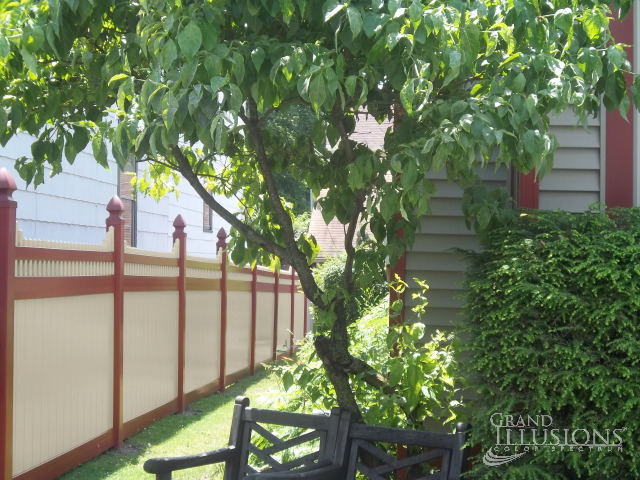 Red And Tan Fence Archives Illusions Vinyl Fence