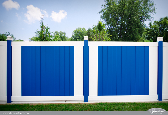 blue vinyl fence Archives Illusions Vinyl Fence