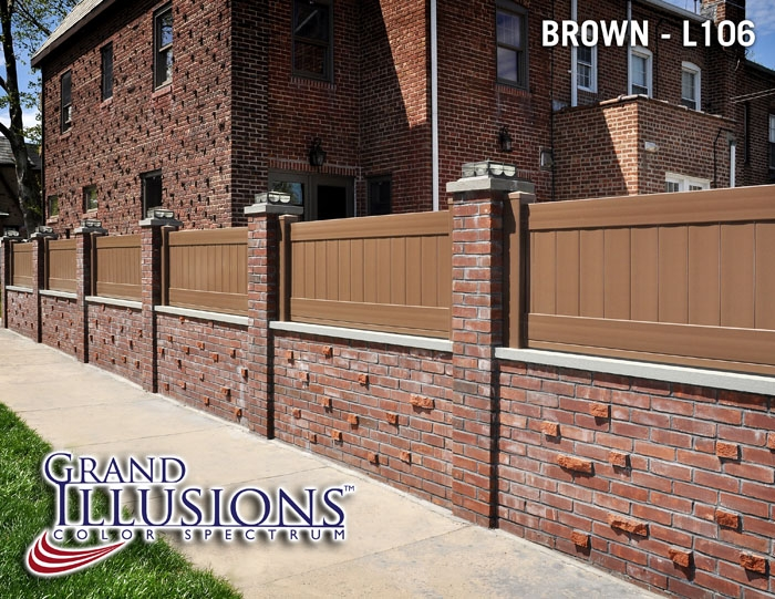 Brown Vinyl Privacy Fence illusions vinyl fence