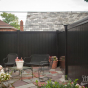 V300-6 Color Vinyl Tongue and Groove Privacy Fence shown in Black (L105)