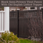 Black-Semi-Privacy-Illusions-Vinyl-Fence-with-Old-English-Lattice