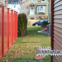 V300-6 T&G PVC Privacy Fence in Barn Red (L107)