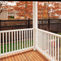 V5215-6 Semi-Privacy Fence with Old English Lattice in Black (L105)