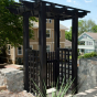 VPEROE-4 Vinyl Pergola with Old English Lattice