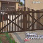 VDG401-54TR Scalloped Victorian Drive Gates in Brown (L106)
