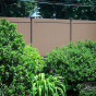 V300-6 Color Privacy Tongue and Groove Fence Shown in Brown (L106)