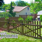 VDG350-54TR Color Vinyl Contemporary Picket Fence Drive Gate
