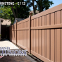 V500A-6 Color Semi-Privacy Alternating Board Fence Shown in Brownstone (E112)