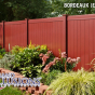 V300-6 Color Vinyl Tongue and Groove Privacy Fence shown in Bordeaux (E119)