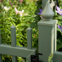 V703-4 Color Alternating Classic Victorian Picket Fence in Evergreen (E106)