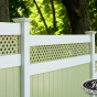 V3215DS-6 T&G PVC Fence in Patio White (L101) and Evergreen (E106)