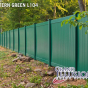 V300-6 Color Vinyl Tongue and Groove Privacy Fence shown in Eastern Green (L104)