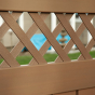 V5215D-6 Semi-Privacy fence with Diagonal Standard Lattice
