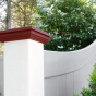 V300-6 Color Privacy Fence D-Rail With Sweep Side Panel