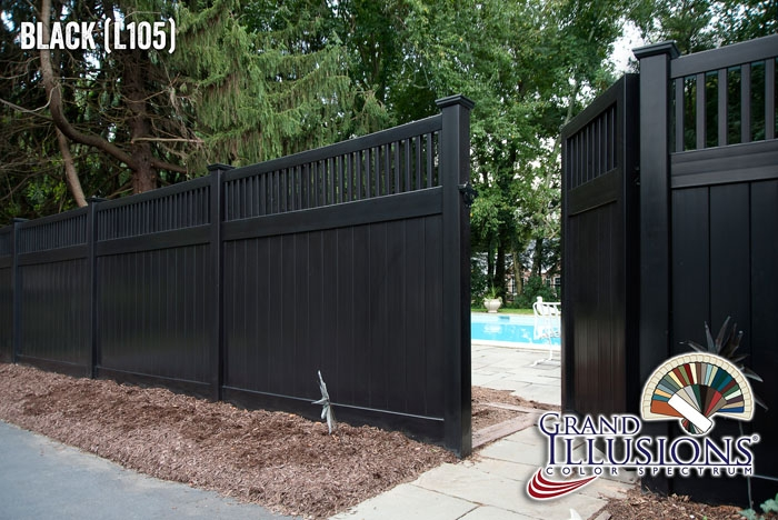 Commercial Black Vinyl Fence Archives Illusions Vinyl Fence