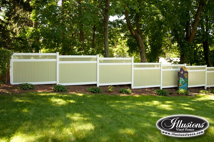 Green And White Fence Archives Illusions Vinyl Fence