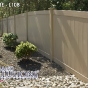 V300-4 T&G Vinyl Privacy Fence Shown in Adobe (L108)