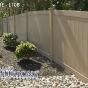 V300-4 T&G Vinyl Privacy Fence Shown in Adobe (L108)