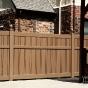 V500A-6 Color Semi-Privacy Alternating Board Fence Shown in Brownstone (E112)