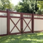 V3215SQ-6 Vinyl Tongue and Groove Privacy Fence with Square Lattice