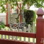V3706-6 Privacy Fence with Stepped Classic Victorian topper.
