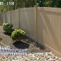 V300-4 T&G PVC fence in Adobe (L108)