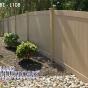 V300-4 T&G PVC fence in Adobe (L108)