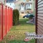 V300-6 T&G PVC Privacy Fence in Barn Red (L107)