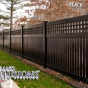 V5215-6 Semi-Privacy Fence with Old English Lattice shown in Black (L105)