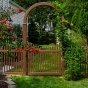 brown-pvc-vinyl-picket-illusions-fence-and-arbor-2x3