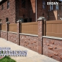 V300-3 T&G Vinyl Panels in Brown (L106) in Brick Wall