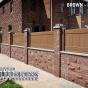 V300-3 T&G Vinyl Panels in Brown (L106) in Brick Wall