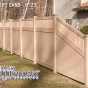 V3701-6 T&G Privacy Fence with Framed Victorian Topper in Desert Sand (E123)