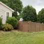 V3700-6 T&G Vinyl Privacy fence with Straight Victorian Picket Top