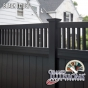 V3701-6 T&G PVC Privacy Fence with Framed Victorian Top in Black (L105)