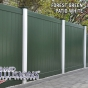 V300-6 T&G Privacy Fence in Forest Green (E120) and Patio White (L101)
