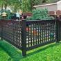 VSQL48-4 4' Vinyl Semi-Privacy Fence