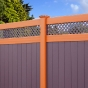 V3215DS-6 Color Vinyl T&G Privacy Fence with Small Diagonal Lattice