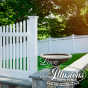 Illusions V707-4 Classic Victorian Scalloped Picket Fence and V3707-6 Vinyl privacy fence with scalloped picket top in Classic White is the answer to your American Dream #fence #americandream #whitepicketfence #fencepostfriday #fences #vinylfence #pvcfence #vinylfences #pvcfences #picketfence #fencecompany #fencecontractor #fenceinstaller #fencesupplies #longisland #longislandny #connecticut #rhodeisland #massachusetts #newjersey #pennsylvania #thenortheast #tristatearea #privacyfence