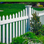 Your American Dream is just a fence away with this Illusions V402-4TR 4foot high Classic White contemporary vinyl picket fence #picketfence #americandream #fence #fences #fencing #vinylfence #vinylfencing #fencepanels #fenceideas #homeideas #homedecor #backyardideas #privacyfence #privacyfences #fencecompany #bestfence #fencecontractor #fenceinstaller #yardfence