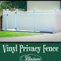 V3707-6 Illusions Classic White Vinyl Privacy Fence with scalloped Classic Victorian picket top and matching gate #fence #fences #vinylfence #vinylfences #gate #gates #vinylgate #vinylgates #fencepost #fencepostfriday #whitefence #pvcfence #pvcfences #pvcgate #pvcgates