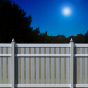 V500A-6 Semi-Privacy PVC Fence with Alternating Boards in Gray (C103), Beige (C102) & White (C101)