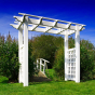 VPEROE-6 - ACCENT ANY ENTRANCEWAY ILLUSIONS VINYL PERGOLA - 6' WIDE