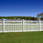 V703S-4 Classic Victorian Scalloped Staggered Vinyl Picket Fence