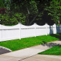 V707-4 Classic Victorian Scalloped Vinyl Picket Fence with Majestic end post