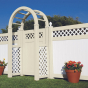 V3215D Lattice Privacy Fence with Gate and Arbor