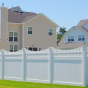 V3707-6 6\' HIGH ILLUSIONS VINYL PRIVACY FENCE